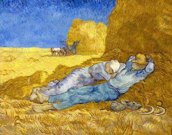 Barley Painting - Noon-rest From Work - Digital Remastered Edition by Vincent van Gogh