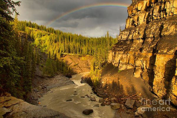 Photograph - Nordegg Bighorn Canyon Rainbow by Adam Jewell