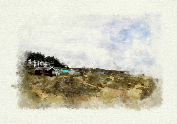 Childhood Digital Art - Norfolk Beach Huts by John Edwards