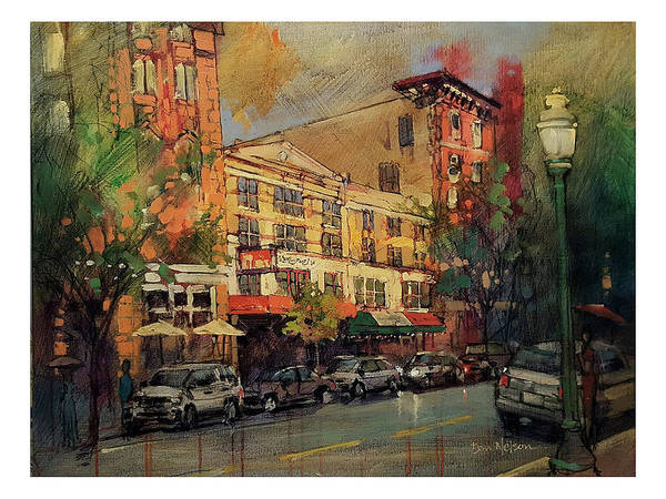 Wall Art - Painting - Norfolk Downtown by Dan Nelson