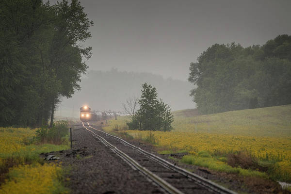 Norfolk Southern Railway Wall Art - Photograph - Norfolk Southern 60a Approaching Huntingburg In by Jim Pearson