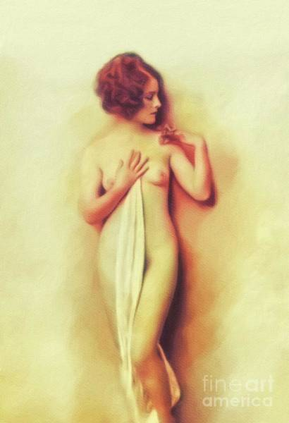 Norma Wall Art - Painting - Norma Shearer, Vintage Actress, Nude by Mary Bassett