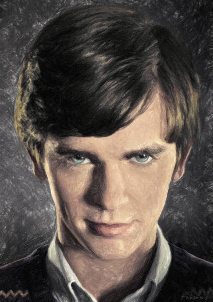 Serial Killer Painting - Norman Bates by Zapista Zapista