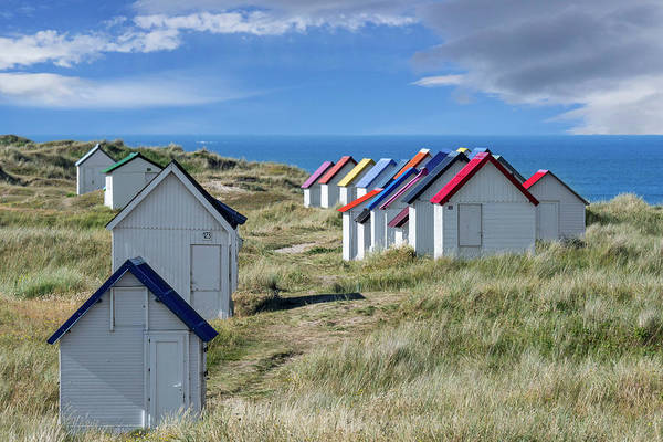 Photograph - Normandy Beach Cabins by Arterra Picture Library