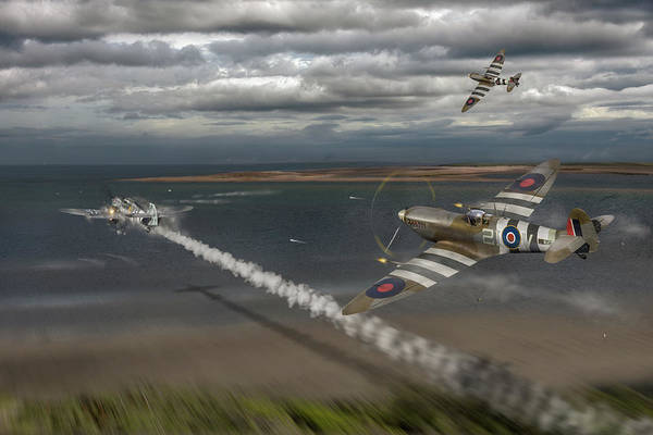 Photograph - Normandy Spitfire Attack by Gary Eason