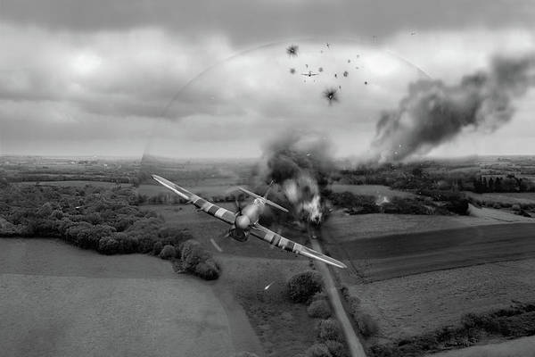 Photograph - Normandy Typhoon Shockwave Bw Version by Gary Eason