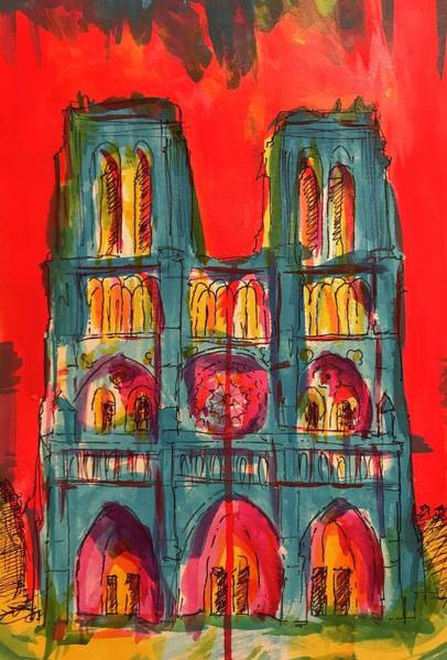 Drawing - Norte Dame  by Jason Nicholas