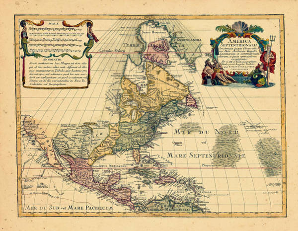 Color Image Digital Art - North America, 1762 by Historic Map Works Llc And Osher Map Library
