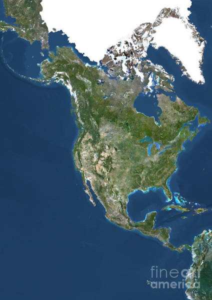 Photograph - North America by PlanetObserver