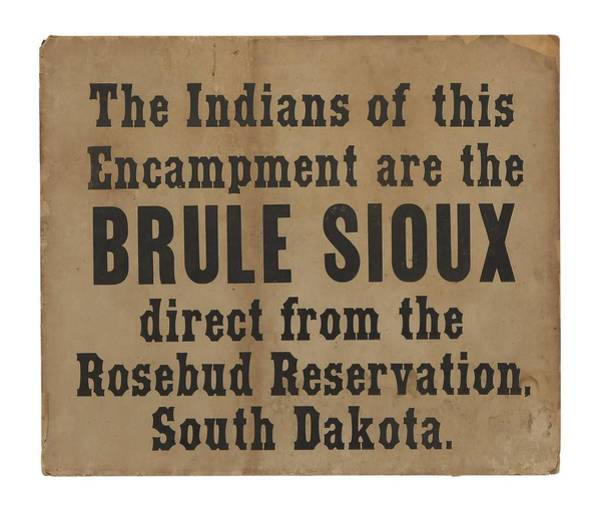 Wall Art - Painting - North American Indians The Indians Of This Encampment Are The Brule Sioux Direct From The Rosebud  by MotionAge Designs