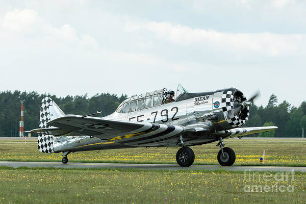 Harvard Propeller Photograph - North American T-6 Texan Silver by Ingemar Magnusson