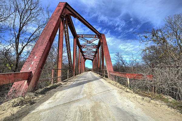 Wall Art - Photograph - North Bosque River Bridge Hico Texas by JC Findley