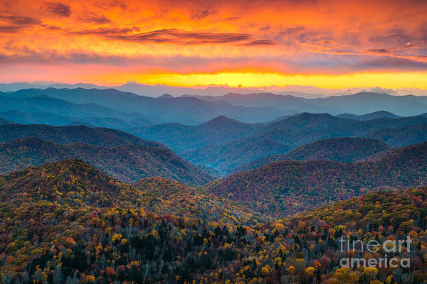 Wall Art - Photograph - North Carolina Blue Ridge Parkway by Dave Allen Photography