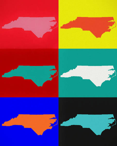 Wall Art - Mixed Media - North Carolina Pop Art by Dan Sproul
