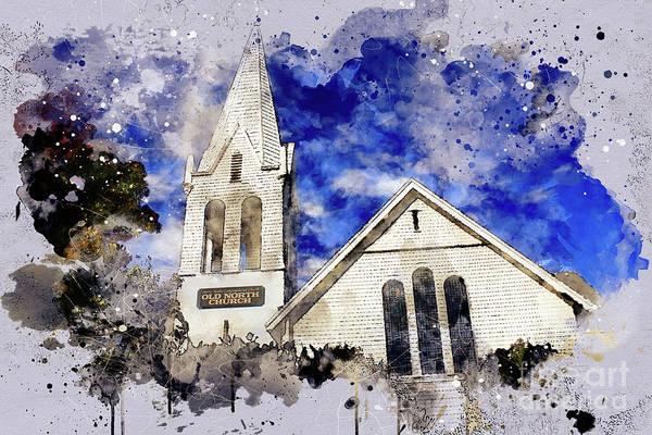 Digital Art - North Church by Mark Jackson