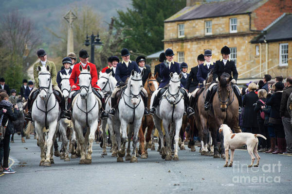 Photograph - North Cotswold Hunt In Broadway by Tim Gainey