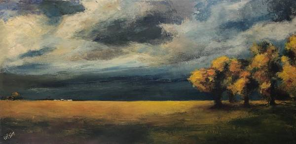 Wall Art - Painting - North Dakota October 5 Late Afternoon by Terry Orletsky