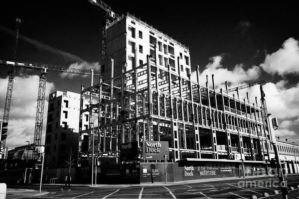 Wall Art - Photograph - North Dock Hq Office Buildings Under Construction North Wall Docklands Dublin Republic Of Ireland Eu by Joe Fox
