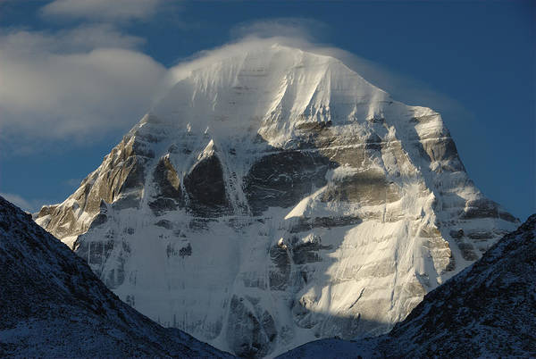 Awe Photograph - North Face Of Mount Kailash Gang by Tcp