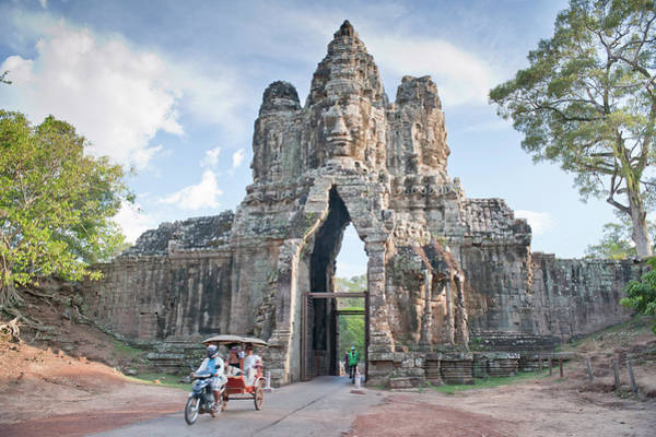 Cambodian Photograph - North Gate, Angkor Thom, Angkor, Unesco by Andrew Stewart / Robertharding
