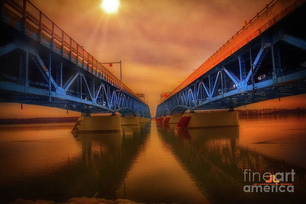 Photograph - North Grand Island Bridge by Jim Lepard