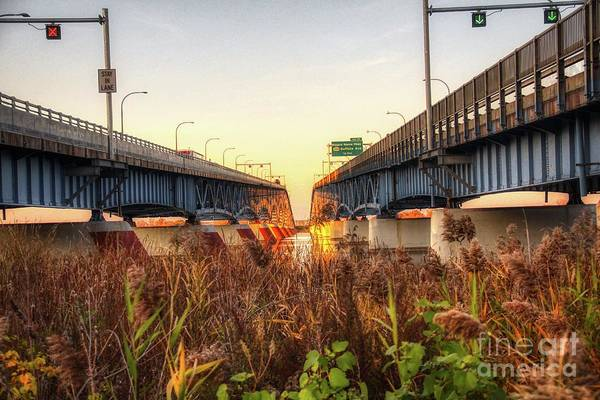 Photograph - North Grand Island Bridges by Jim Lepard