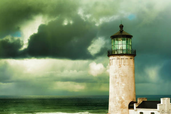 Photograph - North Head Lighthouse  by Dee Browning