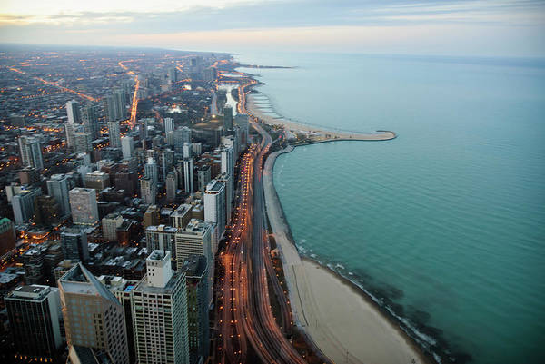North Lake Shore Drive Art Print by By Ken Ilio