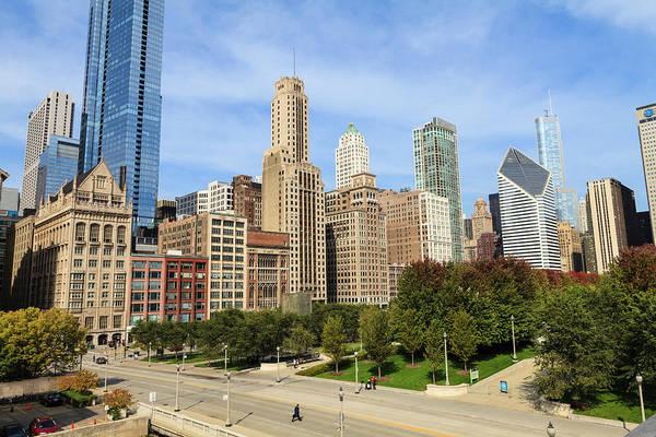 Millennium Park Photograph - North Michigan Avenue, Chicago by Fraser Hall
