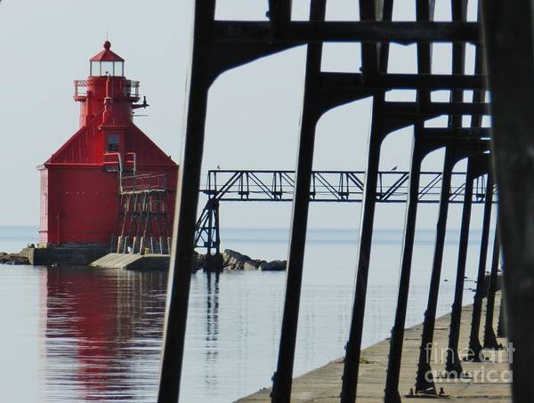 Wall Art - Photograph - North Pierhead Lighthouse Sturgeon Bay by Snapshot Studio