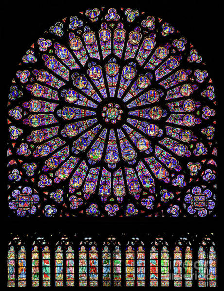 Photograph - North Rose Window Of Notre Dame Cathedral by Doc Braham
