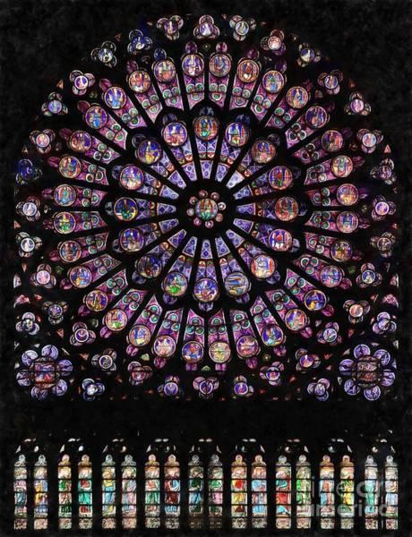 Digital Art - North Rose Window Of Notre-dame De Paris by Edward Fielding