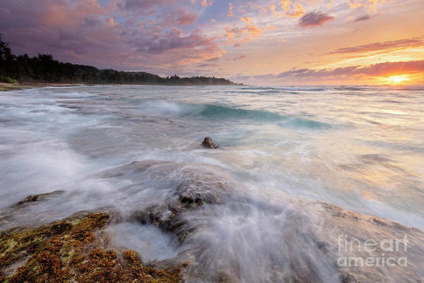 Wall Art - Photograph - North Shore Sunset Surge by Mike Dawson