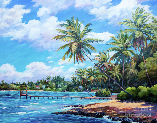 Brac Painting - North Side Coastline  by John Clark