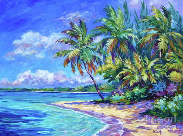 Wall Art - Painting - North Side Palms  by John Clark