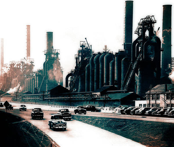 Photograph - North Side Steel Works - Pittsburgh - Circa 1954 by Doc Braham
