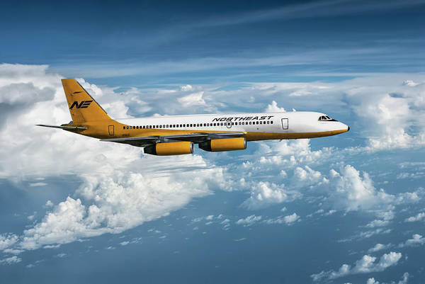 Delta Mixed Media - Northeast Airlines Yellowbird by Erik Simonsen