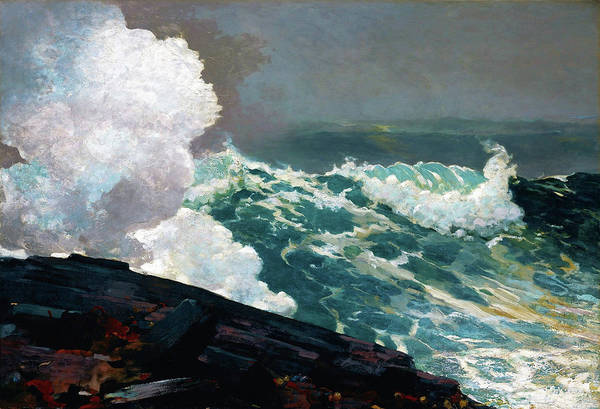 Blast Wave Wall Art - Painting - Northeaster - Digital Remastered Edition by Winslow Homer