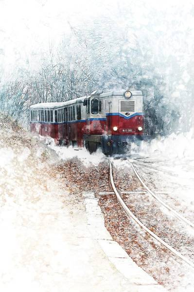 Trains Painting - Northern European Train by ArtMarketJapan