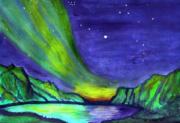 Painting - Northern Lights 3 by Irina Dobrotsvet
