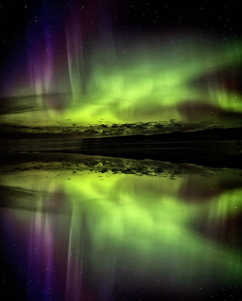 Wall Art - Photograph - Northern Lights Aurora Reflection by Mark Duffy
