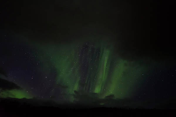Photograph - Northern Lights Between Clouds In Northwest Iceland #1 by RicardMN Photography