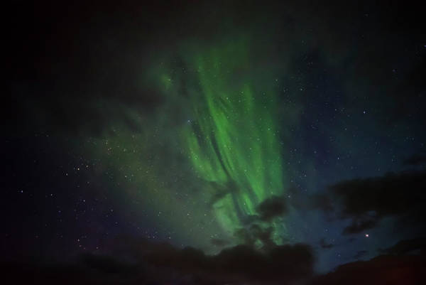 Photograph - Northern Lights Between Clouds In Northwest Iceland #2 by RicardMN Photography
