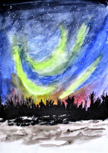 Painting - Northern Lights by Clyde J Kell