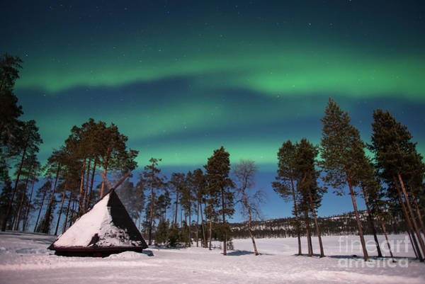 Wall Art - Photograph - Northern Lights In Lapland by Delphimages Photo Creations