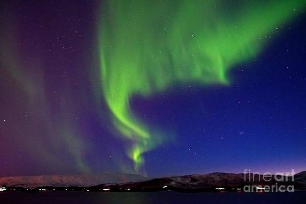 Photograph - Northern Lights Over Tromso Norway by Martyn Arnold