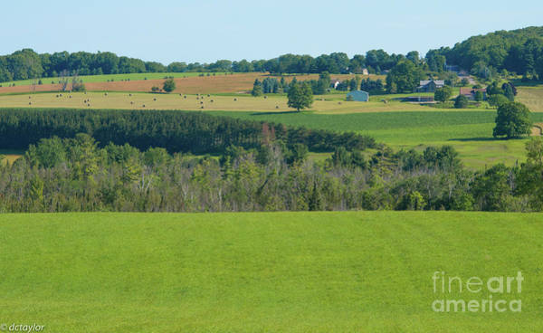 Wall Art - Photograph - Northern Michigan's Rolling Hills by David Taylor