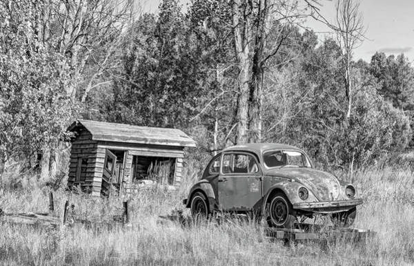 Clunker Wall Art - Photograph - Northland Used Cars - Deal Of The Week Bw by Steve Harrington