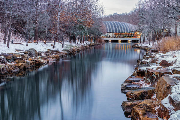 Photograph - Northwest Arkansas Crystal Bridges Museum With Winter Snow by Gregory Ballos