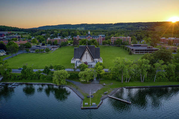 Photograph - Norton Chapel Head On by Ants Drone Photography